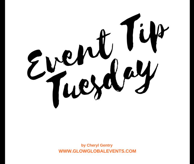 Event Tip: Start planning now